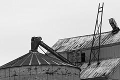 Remnants (joeldinda) Tags: roof winter snow building weather nikon michigan january ruin silo mulliken grainelevator v2 2015 2736 1v2 nikon1v2