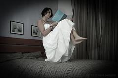 The power of reading (Sara Petagna   apesara) Tags: me reading book fly power levitation esperimenti potere volare levitazione