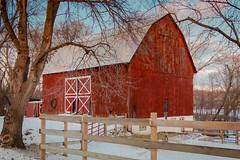 winter barn (jimmy_racoon) Tags: winter minnesota barn rural landscape is farmland 1785mm xsi 1785mmis canonxsi