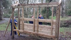 Maesteg Welfare Park Bird Screens, Bridgend. Jan 2016 (Keep Wales Tidy) Tags: volunteers tesco kwt birdhide sucb v2c woodb