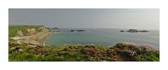 Kilfarrassey (LoneSwimmer) Tags: blue ireland beach island cliffs waterford coppercoast seaocean kilfarassey