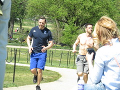 IMG_0084 (FOTOSinDC) Tags: shirtless man hot men muscle candid handsome sweaty sweat runners shorts runner joggers jogger