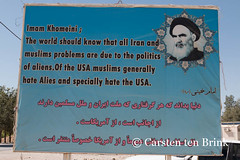 The Ayatollah expresses himself (10b travelling) Tags: persian asia asien iran propaganda tomb middleeast antiamerican persia billboard translation asie iranian cyrus imam pasargadae 2014 achaemenid ayatollah mistranslation neareast khomeini moyenorient naherosten mittlererosten tenbrink carstentenbrink westernasia iptcbasic 10btravelling