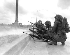 South Vietnamese Rangers defend Saigon during the Tet Offensive. 1968 [2400x1873] #HistoryPorn #history #retro http://ift.tt/1TX6PM5 (Histolines) Tags: history during vietnamese south retro timeline 1968 tet offensive rangers saigon defend vinatage historyporn histolines 2400x1873 httpifttt1tx6pm5