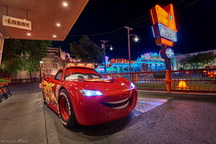 Getting Cozy at the Cone Redux (bowenbee) Tags: flickr disneyland disney californiaadventure disneylandresort disneycharacters lightingmcqueen carsland