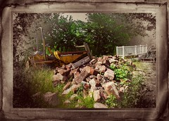 Wreckage (alsimages1 - Thank you for 860.000 PAGE VIEWS) Tags: border rustic soil dirt rusting wreck landfill treatment