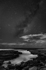 A Starry Starry Night (StephEvaPhoto) Tags: milkyway blackandwhite sigma24mmf14dgart australia australiancapitalterritory blackandwhitephotography sydney 6d northernbeaches monochrome fullframe newsouthwales blackwhite canoneos monochromephotography canoneos6d 24mm act art dg nsw prime primelens sigma f14 turimettabeach