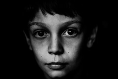 Soul (PaxaMik) Tags: portrait black face kid noir noiretblanc yeux soul enfant visage regard hypnotique me nb regardnoir portraitnoiretblanc