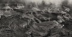 The Planet Earth - gray matter (John A. McCrae) Tags: arizona blackandwhite landscape nationalpark scenery unitedstates grandcanyon canyon geology southrim pentaxk5