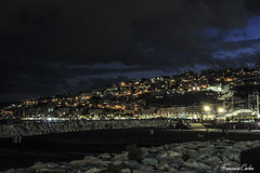 Napoli notturna (atrialbyfire) Tags: napoli naples italy italia lungomare lungomarecaracciolo mare sea seaside seascape seascapes night bynight lights love notte clouds cloud nuvole nuvola mediterraneo notturno