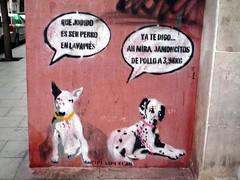 MADRID. Perros.11 (joseluisgildela) Tags: madrid streetart publicidad carteles azulejos grafittis