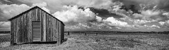 1870's Novillo Line Camp At Padre Island National Seashore (Mike Schaffner) Tags: ranch park sky blackandwhite bw panorama building monochrome grass clouds fence island us blackwhite nationalpark texas unitedstates farm corpuschristi dunes restored nationalparkservice seashore padre corral bunkhouse tiltshift novillo padreislandnationalseashore cattlestation patrickdunn linecamp canontse24mmf35lii