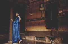 Some frames takes us back in time..to the world of charm and comfort. (Gulfu) Tags: old art home painting photography shoot photos antique walk traditional indigo like kerala concept saree 100yearsold modelphotography ravivarma moothamana