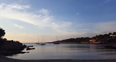Sunset (Tim Cunningham's Images) Tags: sunset beach boats spain rocks yacht ibiza balearics portinatx