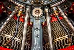 Radial Engine (Chris Parmeter Photography (smokinman88)) Tags: abstract art colors lines airplane nikon mechanical aircraft engine chrome fins radial t6 shone d810
