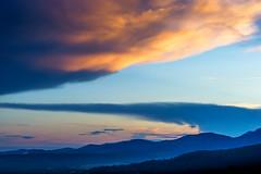 Dramatic sunset, Montauroux, Provence, France (andyc246) Tags: sunset france landscape golden twilight colours dusk sony dramatic provence bluelight diagonals montauroux a711 perchedvillas