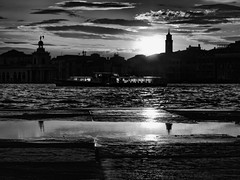 Venezia - 2016 (Enzo D.) Tags: 2016 backlight giudecca italia italy olympus puddle reflection venezia venice vaporetto wwwenzodemartinocom veneto it