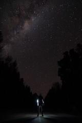 Self portrait (Kenster1980) Tags: longexposure newzealand selfportrait black silhouette night canon dark stars illumination tokina southisland nightsky milkyway starlight hanmersprings canon700d tokina1116