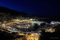Monaco. (Svitlana Clover) Tags: city blue homes sea summer vacation sky black yellow night buildings bay harbor europe tour ships monaco journey traveling canoneos550d