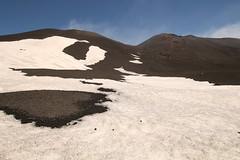 Dirty Snow (Derbyshire Harrier) Tags: snow lava spring mediterranean steam gas ash sicily geology volcanic etna fumes mountetna activevolcano tephra voragine craterecentrale boccanuova