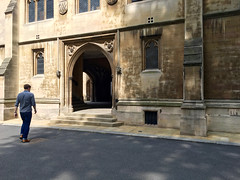 Inns of Court 3 (The Popular Consciousness) Tags: uk greatbritain london church walking person cathedral unitedkingdom candid gothic pedestrian stepping innsofcourt
