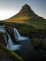 Unter the Midnight Sun (katrin glaesmann) Tags: longexposure waterfall iceland kirkjufell snfellsnes kirkjufellsfoss nearmidnight unterwegsmiticelandtours photographyholidaywithicelandtours