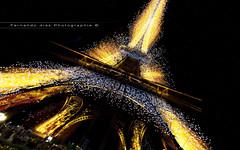 Light disintegration (Fernando 75) Tags: paris france tower lights nikon lumire eiffel toureiffel d800 1635 trocadro
