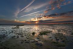 Les prs sals, Arcachon (ptimat) Tags: sky sun seascape france beach water clouds sunrise arcachon prs sals gironde