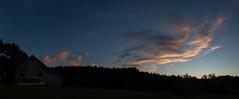 Sunset with barn and jellyfish. (koperajoe) Tags: sunset sky panorama field clouds barn rural twilight dusk pano newengland bigsky stratus westernmassachusetts cirrus