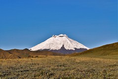 Cotopaxi volcano, early frozen morning (Marco A Rodriguez) Tags: blue sky azul landscape volcano frozen ecuador highland cielo andes montaa paramo volcan