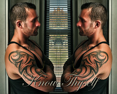 Know Thyself (Violentz) Tags: male guy man portrait model physique fitness muscle muscular bodybuilding bodybuilder tattooed bearded beard boston patricklentzphotography knowthyself