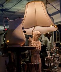 Porcelain grape maiden (Shoots PENTAX) Tags: lamp shop pentax antique indoor pitcher porcelain justpentax pentaxk1 smcpentaxfa43mm19ltd