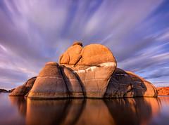 Watson-Lake-7666-Edit.jpg (Michael-Wilson) Tags: longexposure sunset arizona lake reflection clouds sunrise az tranquil prescott watsonlake michaelwilson