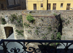 Len. (Sharon Frost) Tags: travel spain citywalls balconies hotels len