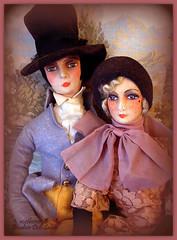 Pair of cloth boudoir dolls (motherxmas2003) Tags: man lady bed doll boudoir