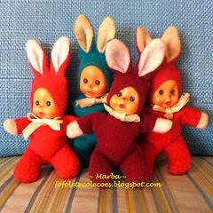 Fofoletes Coelhos Trol (~Marba~Furtado~) Tags: bunnies vintage easter colorful doll boneca fofolete trol bonequinha beandoll coelhinhas toycollector matchboxdoll