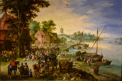 Jan Brueghel the Elder - Wooded River Landscape with Fish Market and Fishing Boats, 1610 at San Diego Museum of Art - San Diego CA (mbell1975) Tags: california ca usa fish art dutch museum america river painting landscape boats golden us fishing san gallery museu with unitedstates sandiego market jan fine arts diego grand muse calif musee age american elder museo masters flemish brueghel muzeum wooded 1610 finearts beaux beauxarts mze gallerie musum