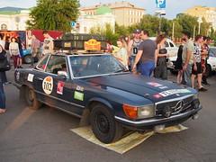 1971 - Mercedes 350SL (Jasonito) Tags: paris classic car russia rally olympus retro oldtimer motor  omsk challenge peking 6th omd the 2016    em5   parispeking beijingparis   panasonic14140mmf4058 omdem5
