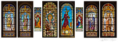 Church Stained Glass Windows (Vladimir Lazarov) Tags: windows church stainedglass