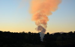 election night bonfire (dustaway) Tags: winter sunset sky landscape shadows sundown smoke illumination australia nsw australianlandscape burnoff northernrivers smokecolumn modanville 2016australiafederalelection