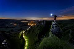 ===T-H-R-O-U-G-H L-I-G-H-T== (Karl.Chester) Tags: light sky night canon stars hope district pass trails peak astro adventure pollution valley selfie 6d castleton winnats