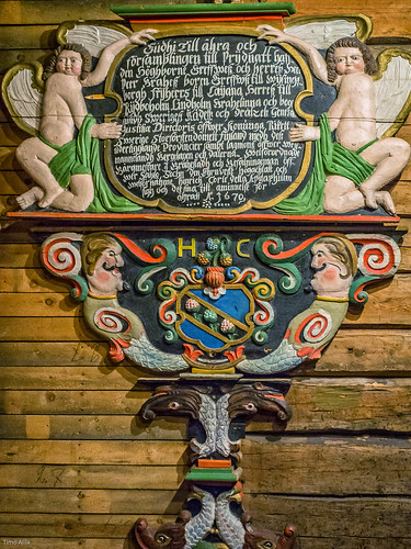 One of Raahe's old church's wooden sculptures in museum