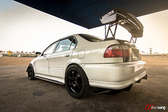 I like big wings! (Wilken Sang) Tags: honda bride side wheels wing performance turbo civic forced rim diffuser ets hks typer toyo advan rgd proxes h22 voltex