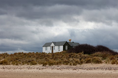 Druridge Bay, Northumberland (Hairy Caterpillar) Tags: house storm beach clouds sand dunes northumberland druridgebay