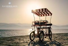 Joyride (Kordelakos) Tags: sun mountains bicycle backlight vintage fun couple afternoon ride joy memories twin nobody retro romantic