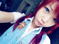 SKYLER'S (26) (LEECHINHWA l skyler) Tags: red cute girl beautiful hair doll pretty mask sweet russia gray korea korean lee kawaii spike uzbekistan chin skyler hwa pika lenses taki takumi bestface chinhwa ulzzang uljjang ohljjang leechinhwa
