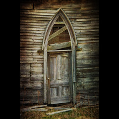 No More Redemption (sminky_pinky100 (In and Out)) Tags: old canada church novascotia debris textures forgotten ruraldecay woodenchurch maitland abandonedchurch leftbehind woodendoor omot cans2s exhibitionoftalent masterclassexhibition archeddetails