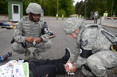 Warrior Response Exercise 2013 (army.kaiserslautern) Tags: training army exercise soldiers airforce demonstrations kaiserslautern protesters response airmen emergencyresponse forceprotection rhineordnancebarracks