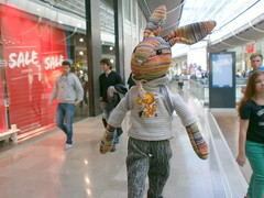 Beulah Shops, Westfield Centre, 19 May 13 (Castaway in Scotland) Tags: england rabbit london toy hare olympus giraffe jellycat d700