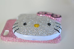 Hello Kitty_6 (Ulricke Alette) Tags: pink mirror shiny handmade hellokitty craft blingbling case sanrio homemade cover bow crafty deco rhinestone rhinestones phonecover hardcover phonecase hardcase decoden compactmirro